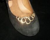 Brass shoe clip, shoe accessories, shoe bling, shoe embellishment, brass wire shoe clip, shoe dressing