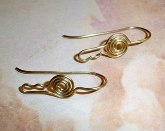 Brass Key 20g Handmade Earwires, Jewelry Supply, Findings