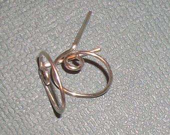 Swirl Loop Silver Plate Ear Studs
