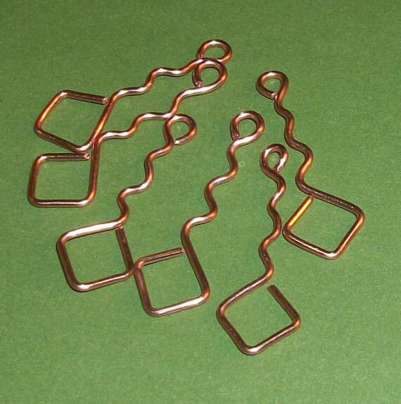 Copper Wave Diamond Dangle Charm 6