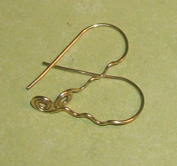 Swirl Drop Brass Ear Wires