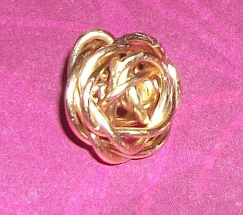 Handmade Wire Charm Rose Button 4 steampunk buy now online
