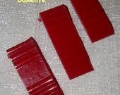 "Bakelite Catalin Jukebox Translucent Red Cover ""Ends"""