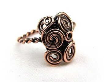 Wire Wrap Lesson Twisted Wire Ring Tutorial - 2 Designs - PDF