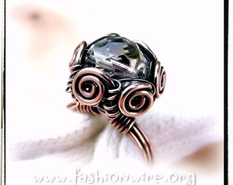 Wire Wrap Lesson Basket Ring Jewelry Tutorial PDF