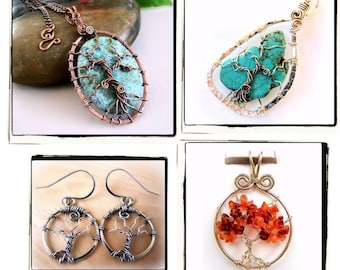 Tree of Life Lovers Wire Wrap Jewelry Lessons 4 TUTORIAL PACKAGE PDF