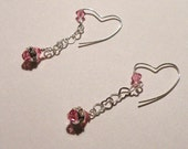 Sweet Love Earrings in Rose by TriannasTreasures