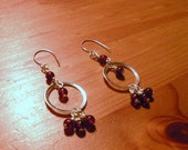 Silver and Garnet Earrings by TriannasTreasures