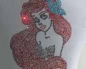 2T 3T 4T 5T 6/6X Little Mermaid Ariel Short Or Long Sleeve t-shirt for Disney costume