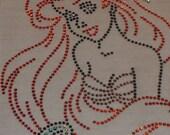 7 inch Ariel Little Mermaid iron on rhinestone transfer for Disney t shirt