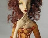 OOAK art doll, Phoenix Muse