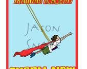 Superhero Training Academy (boy) 10x14 print