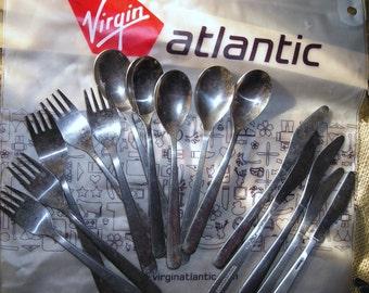 British Airways Flatware  Vintage  Airlines Utensils    Teatime on British Airways Knives Forks and Spoons