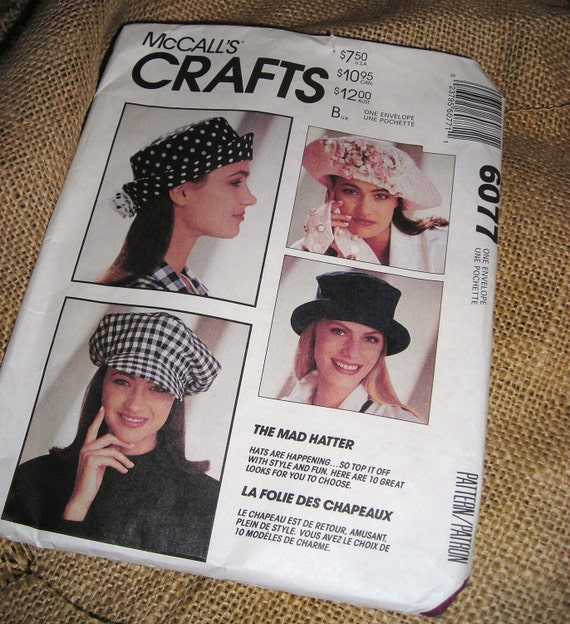 McCall's Hat Patterns /  Ten Hat Patterns / You Never Have Enough Hats