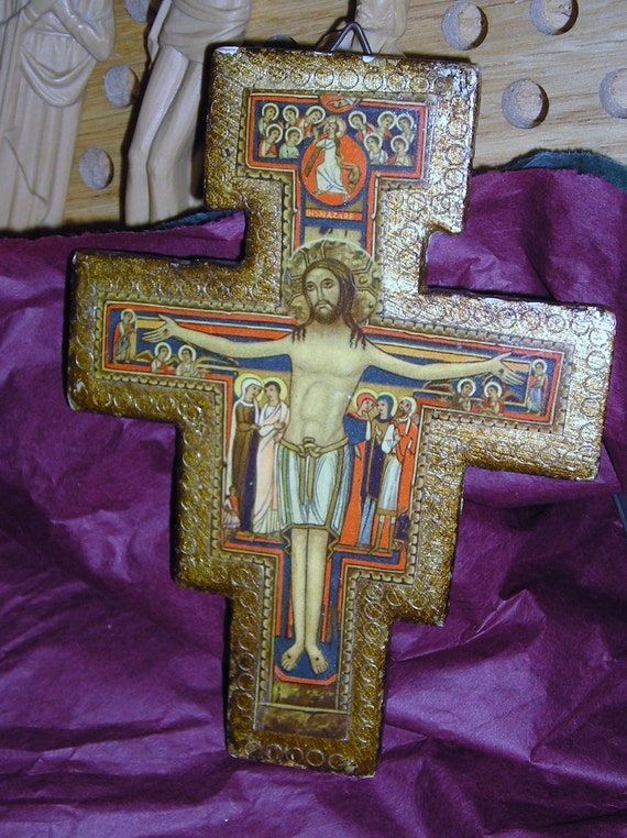 The Crucifix That Spoke to St. Francis of Assisi / St Chiara Church / Florentia /  Hand Made in Italy