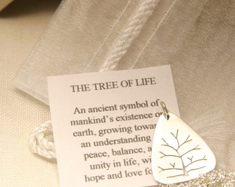 Small Sterling Silver Tree of Life Pendant, Handmade in Maine