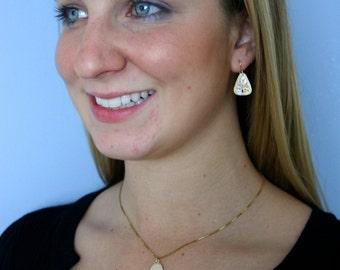 Tree of Life Earrings, 14k Yellow gold, Handmade in Maine