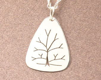 Tree of Life Sterling Silver Pendant: Handmade in Maine