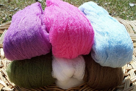 Sale - 3 for 24 - Cheesecloth Wrap Photography Prop for Newborns or Maternity  - Choose From 20 Colors