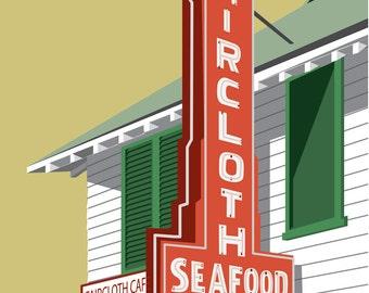 Faircloth's Seafood Giclee Print