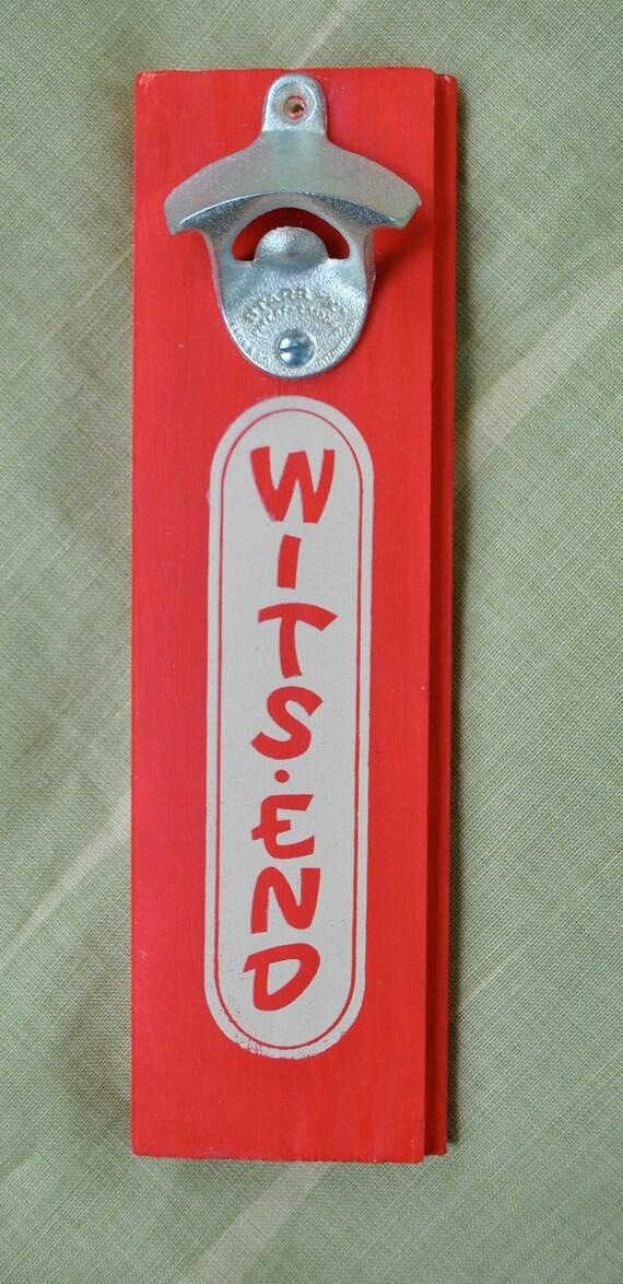 wits end wall mount bottle opener. Black Bedroom Furniture Sets. Home Design Ideas