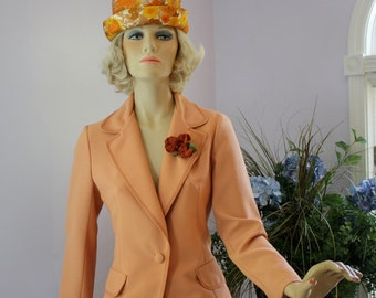 Vintage 60s Lilli Ann Suit Tailored 2 pice Suit Summer to Fall Tea Party Dinner Wedding