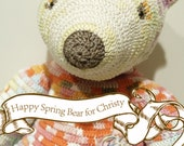 RESERVED LISTING Happy Spring Bear for scottishgoods