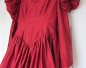 Reserved for Carmel - Designer Evening / Prom/ Bridesmaid's Dress in Deep Red Raw Silk