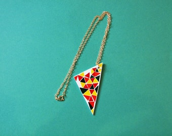 Triangle Necklace - Gift for Women - Geometric Pattern Necklace - Handmade Jewellery - Gift for Friends - Modern Necklace