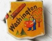 Washington State Vintage Puzzle Pin