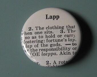 Lapp Vintage Dictionary Pin