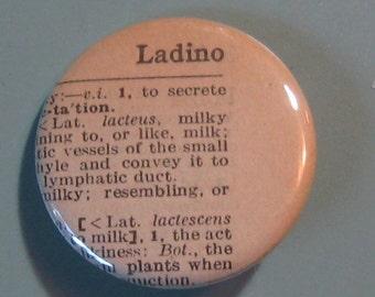 Ladino Vintage Dictionary Pin