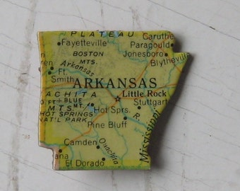 Arkansas State-of-Mind Puzzle Pin