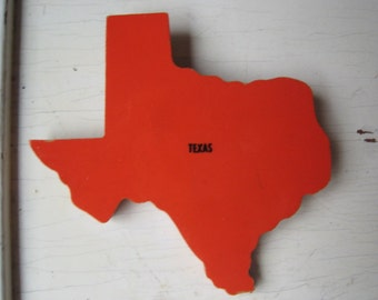 SALE Texas Vintage Wooden Puzzle Pin