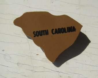 SALE South Carolina Wooden Vintage Puzzle Pin