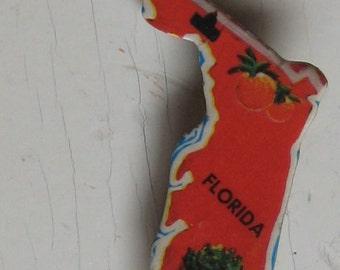 Florida Vintage Puzzle Pin Milton Bradley 1956