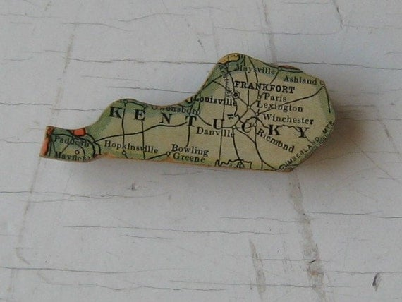 Kentucky Vintage Wooden Puzzle Magnet