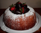 Ultimate Cream Cheese Pound Cake with Chocolate Covered Strawberries