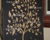Family Tree, Family Tree Wall Art, Family Sign, Personalized Family Tree