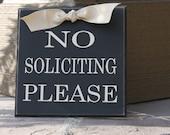 No Solicitation Sign, No Soliciting