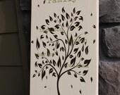 Family Tree Wall Art, Personalized Family Tree