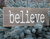 Believe sign, Christmas sign, vintage Christmas sign