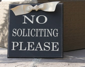 No Solicitation Sign, No Soliciting