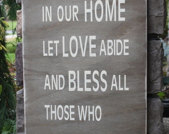 Welcome sign, Home decor sign, wood sign, vintage sign, weathered sign