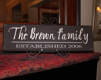 Personalized Family Name Signs, family sign, Family Established Sign