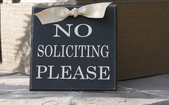 No Soliciting Sign, no soliciting signs