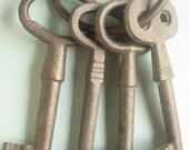Large Cast  Iron Set of Keys
