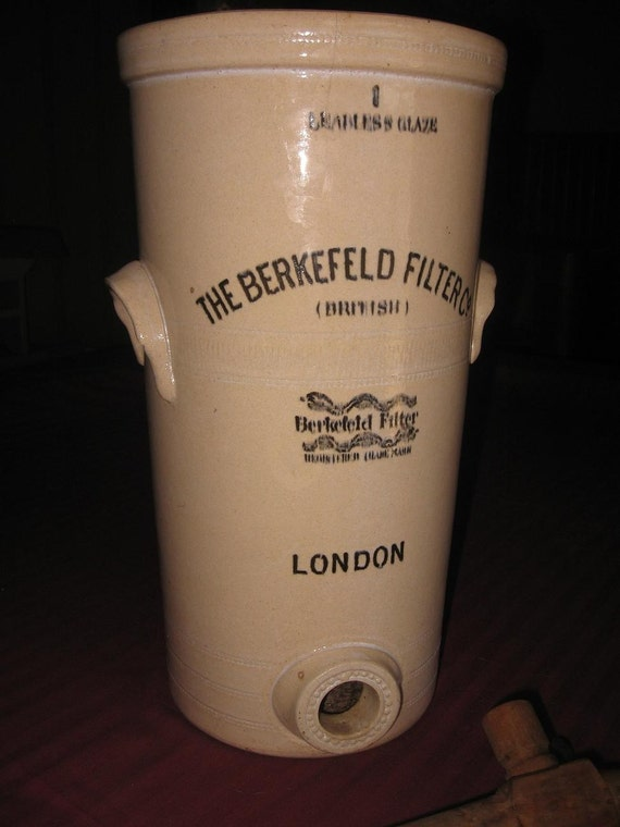Items Similar To Vintage Antique British Berkefeld Water