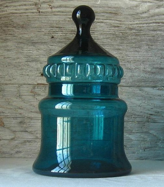 Vintage Hand Blown Glass Jar
