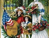 Memorial Day antique postcard image No. 6495